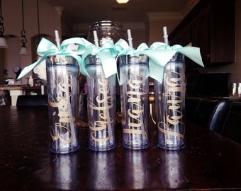 Personalized Tumbler, Bridesmaid Gift, Gift, Team Gift, Monogram Tumbler, Personalized Tumbler, Personalized Cup, personalized water bottle