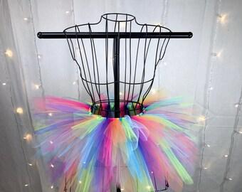Freya Tutu - Neon Rainbow Spike Tutu - Birthday Tutu - Available in Infant, Toddlers, Girls, Teenager, Adult and Plus Sizes