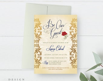 Beauty And The Beast Wedding Invitations Magglebrooks
