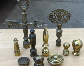 Lot of Ten Replacement Finials for Lamps