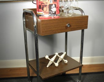 Vintage Mid Century Up Cycle Med Cabinet Bar Cart