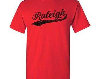 Raleigh City Script T-Shirt - Red
