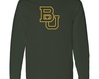 Baylor Bears Primary Logo Long Sleeve - Forest