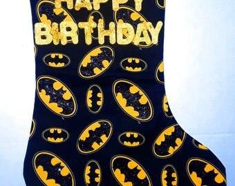 Batman Birthday Stocking 1