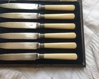 Vintage boxed cake knives
