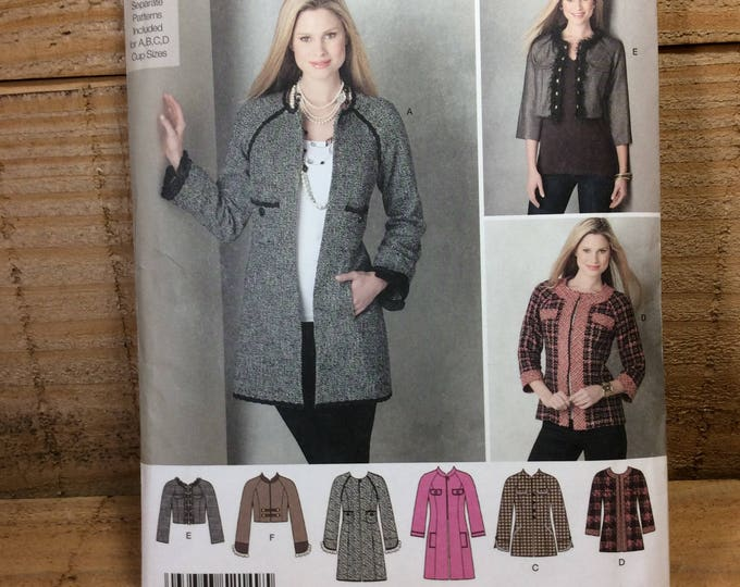 Simplicity 2149 UNCUT from 2011, only 2.50 US standard shipping, misses jacket in three lengths, sew your own jackets, uncut patterns