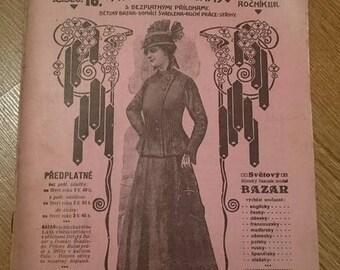 Vintage Bazar Fashion Magazine 1916. Edwardian, Scrapbooking, Ephemera, Art, Decoupage. (No. 16)