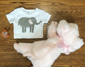 The Little Elephant Baby Bodysuit - Size 0-3 Months