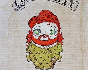 Bearded Lady print, sideshow, freakshow, carnival, horror, freaks, side show, beardedlady