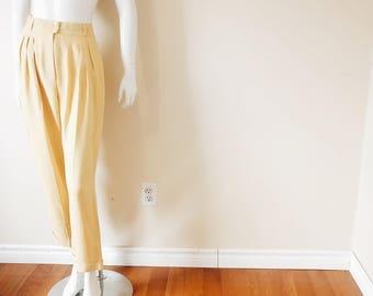 Vintage Beautiful Yellow High Waist Soft Trousers