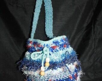 Blue 2 tone shoulder bag