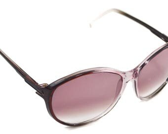 Vintage 70s Foster Grant Deadstock Oval Two-Tone Clear Rose-Tinted Shades Sunglasses