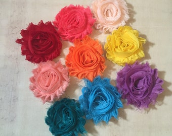 Solid Color Shabby Flower Hair Clip