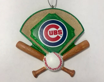 Cubs Baseball Diamond Personalized Christmas Ornament / Cubs Ornament