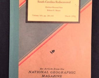 "Vintage Paperback booklet - ""Southern States - South Carolina Rediscovered"" - 1953"