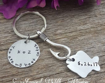 My Best Catch Keychain - Fisherman Gift - Anniversary Gift - Fishing Keychain - I love you Keychain - Gift for Him - Husband Gift