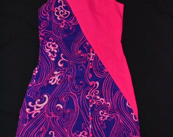 1960's psychedelic looking dress sleeveless!