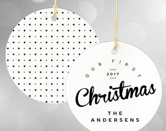 Our First Christmas Ornament, Personalized Newlywed Christmas, Custom Christmas Ornaments, First Christmas Together, Newlywed Ornament,