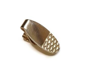 Vintage Tie Clip,Napkin Clip,Skinny Tie Clip,Lingerie Clasp,Cravat or Scarf Holder,Collar Clip,Child's Tie Clip,Oval Gold Tone Tie Clasp