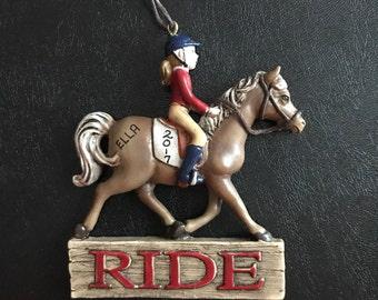 Horseback Rider Personalized Christmas Ornaments / Horse Ornament / Horse Riding / Horse Lover