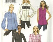 Vogue 8598 Misses Fitted Button Down Shirt Sewing Pattern Plus Size 16 - 18 - 20 - 22 Easy to Sew