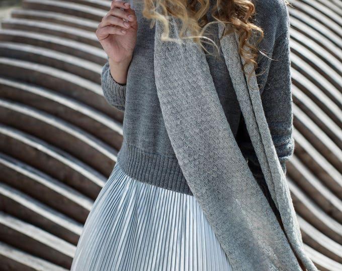 Lightweight alpaca Infinity Scarf headband, wool Loop Scarf, Knit Cowl Scarf, Circle Scarf gray white rose brown snood alpaca knit scarf