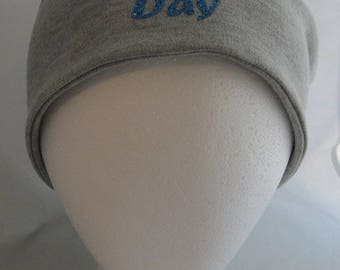 Cancer Chemo Cap Slouchy Hat Soft Knit Material Sewn Profanity Fuck F*ck Fight Screw Cancer Bad Hair Day