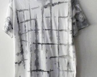 Tie Dye tee shirt, Dip Dye Tee shirt, Tie dye T-shirt, graphic T-shirt, retro, hand painted shirt, dip dye t-shirt, white