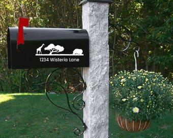 Giraffe Mailbox decal, wedding gift, address decal, mailbox sticker, numbers, mailbox address, Custom Mailbox, Address Vinyl, Curb Appeal,