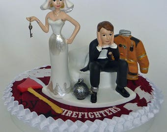 firefighter wedding cake toppers funny wedding cake topper auto mechanic grease monkey racing car 14267