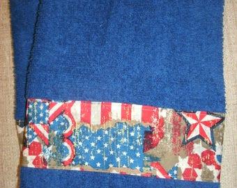 Holiday Hand Towels- Patriotic Hand Towels- Americana Home Decor- Seasonal Bathroom Hand Towels- Kitchen Hand Towels- Designer Towels