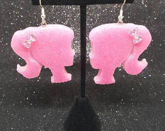 Retro Resin Barbie Earrings