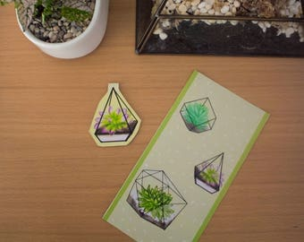 Terrarium Plant Bookmarks
