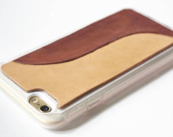 Leather iPhone 6s Case / iPhone 6 Case - Stylish Modern Wave