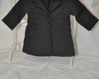 Gray Pinstripe Coat for American Girl dolls