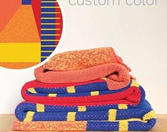 Colorful Blanket, Throw Blanket, Geometric Blanket, Pattern Blanket, Chunky Knit, Baby Blanket, Custom Blanket, Boho Blanket, Personalize