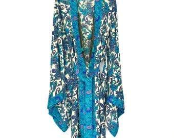 Kimono robe, silk robe, silk kimono, silk kimono jacket, full length kimono, silk robes, kimono jacket, kimono robes, floral silk robe,