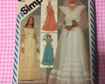 Vintage Simplicity 6361, 1983 Gunne Sax/Jessica McClintock Formal Dress