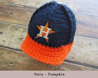Baby Boy Hats  Newborn Hat Infant Hats Newborn Houston Astros football hat - Baby Boy Coming Home Outfit, handmade baby newborn