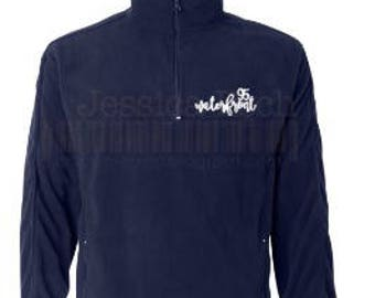 Waterfront 95 Custom Designed Fleece~ Script Lettering