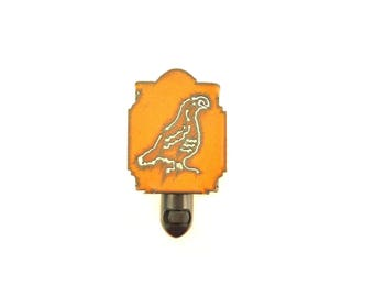 Quail Rusty Metal Night Light