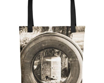 Tote bag - Tractor Tire Swing Tote Bag