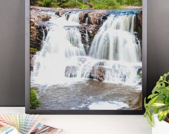 Framed photo paper poster - Red Silo Original Art - Twin Falls