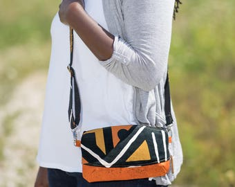 small crossbody bag for women, cross body purse small, African bag, mudcloth crossbody bag, small crossbody bag, crossbody travel purse