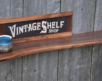 Unique Live Edge Walnut Mantel, Floating Shelf, Display Shelf, Art Display