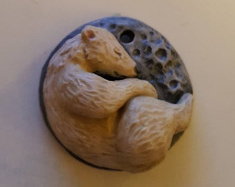 Handmade Sleeping Animal Pendant