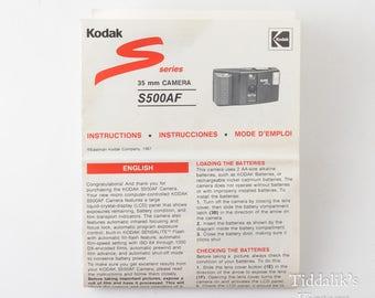 Kodak S Series S500AF 35mm Camera Instructions Manual