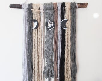 Moon Phase Yarn Wall Hanging - Ares