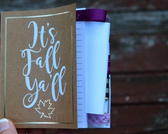 It's Fall Y'all Light Brown Mini Altered Journal