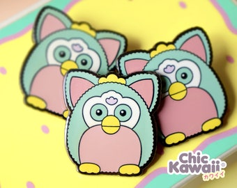 Chic Kawaii enamel pin similar furby toy